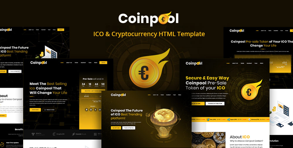High-quality Theme Arrived: Coinpool - The Best Ico, Bitcoin &  Cryptocurrency Template